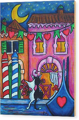Amore In Venice Wood Print by Lisa  Lorenz