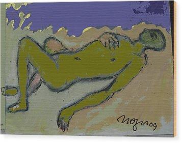 Amorphous Wood Print by Noredin Morgan