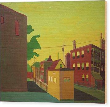 Amory Street Jamaica Plain Wood Print by Debra Bretton Robinson