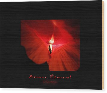 Wood Print featuring the photograph Amour Eternel by Martina  Rathgens