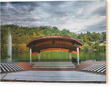 Amphitheatre On The Monongahela I Wood Print by Steven Ainsworth