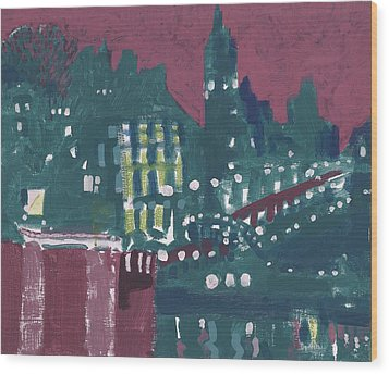 Amsterdam At 4am Wood Print by Jerry W McDaniel