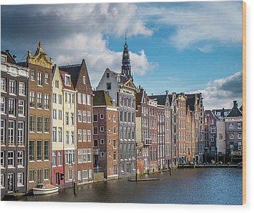 Amsterdam Buildings Wood Print