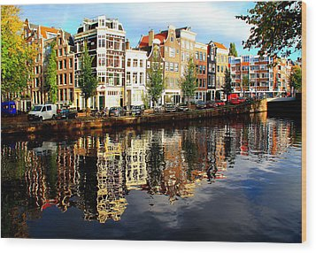 Amsterdam By Day Wood Print