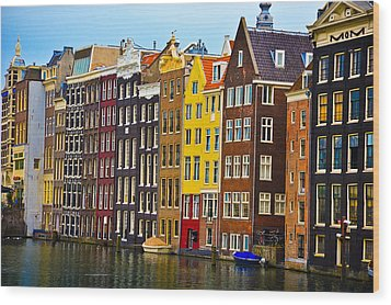Amsterdam Wood Print by Harry Spitz
