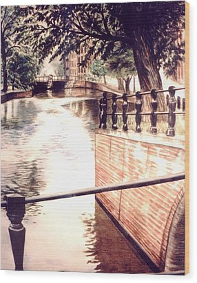 Amsterdam Wood Print by L Lauter