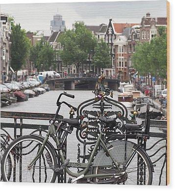 Amsterdam Wood Print by Rona Black