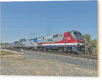 Amtrak 42  Veteran's Special Wood Print