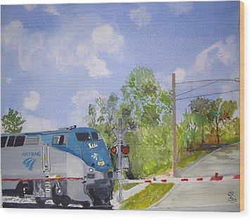Amtrak Wood Print