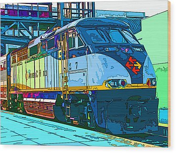 Amtrak Locomotive Study 2 Wood Print