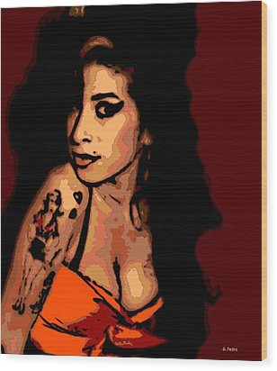 Amy 2 Wood Print by George Pedro