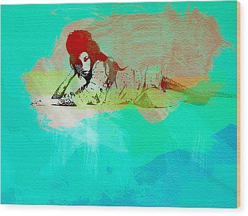 Amy Winehouse 3 Wood Print by Naxart Studio