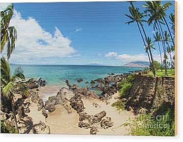 Wood Print featuring the photograph Amzing Beach In Hawaii Islands by Micah May