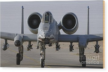 An A-10 Thunderbolt II Wood Print by Stocktrek Images