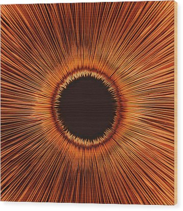 An Abstract Hole Wood Print by Sven Hagolani