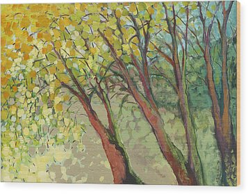 An Afternoon At The Park Wood Print by Jennifer Lommers