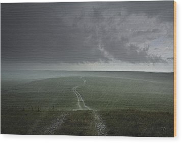 An Afternoon Thunderstorm Coming Wood Print by Jim Richardson