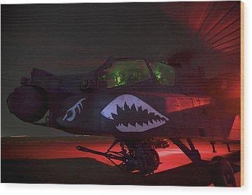 An Ah-64d Apache Longbow Wood Print by Terry Moore
