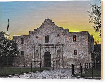 An Alamo Sunrise - San Antonio Texas Wood Print by Gregory Ballos