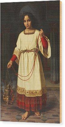 An Altar Boy Wood Print by Abraham Solomon