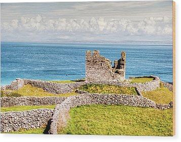 An Ancient Irish Castle Wood Print by Natasha Bishop