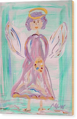 An Angel Of Vision Wood Print by Mary Carol Williams