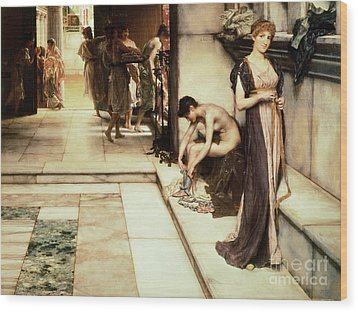 An Apodyterium Wood Print by Sir Lawrence Alma-Tadema