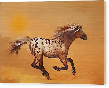 An Appaloosa Called Ginger Wood Print