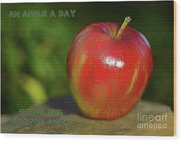 An Apple A Day By Kaye Menner Wood Print by Kaye Menner