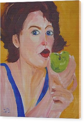 An Apple A Day Wood Print by Irit Bourla