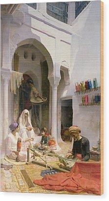 An Arab Weaver Wood Print by Armand Point