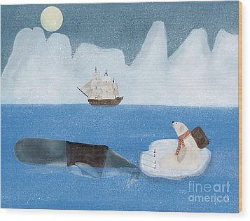 Wood Print featuring the painting An Arctic Adventure by Bri B