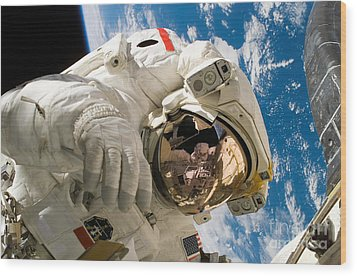 An Astronaut Mission Specialist Wood Print by Stocktrek Images