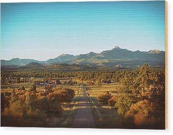 An Autumn Evening In Pagosa Meadows Wood Print
