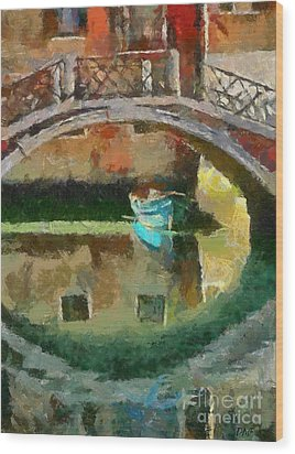 An Early Morning In Venice Wood Print by Dragica  Micki Fortuna