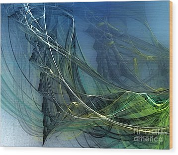 Wood Print featuring the digital art An Echo Of Speed by Karin Kuhlmann