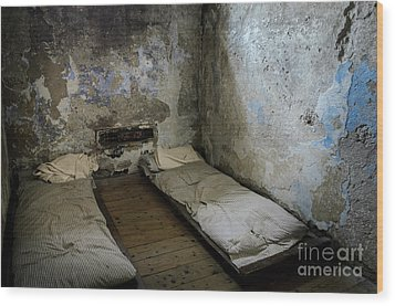 Wood Print featuring the photograph An Empty Cell In Cork City Gaol by RicardMN Photography