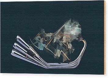 An Engine. Motorcycle Engine Wood Print by Viktor Savchenko
