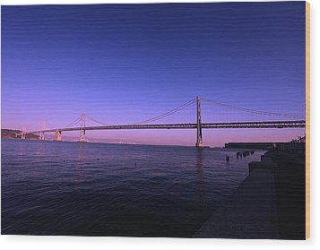 An Evening In San Francisco  Wood Print