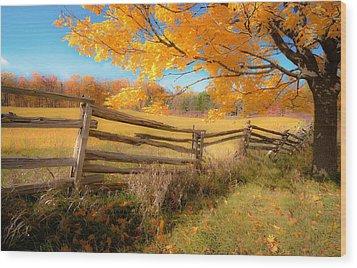 An Ideal Autumn Wood Print