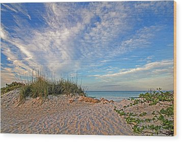 An Invitation - Florida Seascape Wood Print by HH Photography of Florida