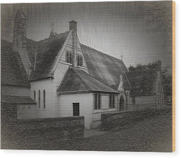 An Irish Church Wood Print by Dave Luebbert