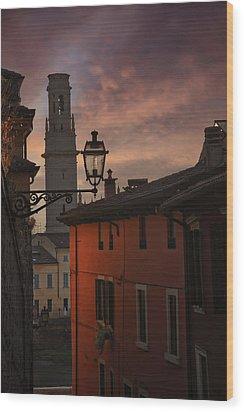 An Italian Sunset Wood Print by Carol Japp