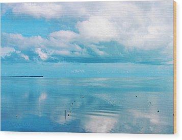 An Ocean Like Glass Wood Print