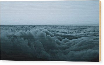 An Ocean Of Clouds Wood Print by Tracey Myers