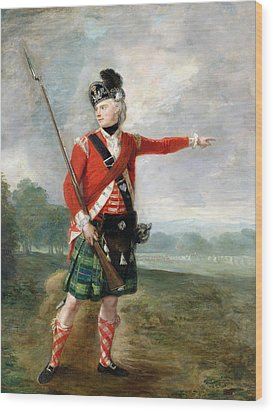 An Officer Of The Light Company Of The 73rd Highlanders Wood Print by Scottish School