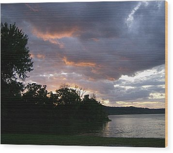 An Ohio River Valley Sunrise Wood Print