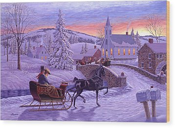 An Old Fashioned Christmas Wood Print by Richard De Wolfe