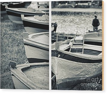 An Old Man's Boats Wood Print