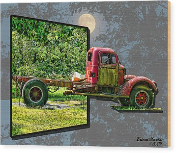 Wood Print featuring the photograph An Old Relic by EricaMaxine  Price